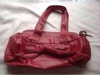 Ladies handbag red colour used £2