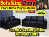 -100% LEATHER – TUSCANY 3 + 2 SOFA SET – SOFA KING QUICK DELIVERY – MASSIVE REDUCTION - NOW ONLY £39 Southside, Glasgow