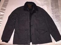 Mens XL grey heavy woollen jacket
