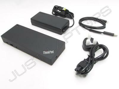 New Lenovo ThinkPad T480 T480s USB-C USB 3.0 Docking Station Dock Kit with Power