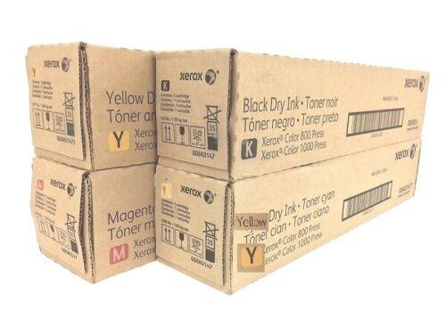 XEROX Color Press 800 1000 CMYK TONER Bundle: 1 x 6R1475 1 x 6R1477 2 x 6R1478