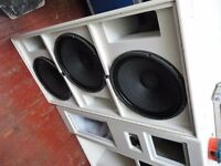 "EAW BV535,TRIPLE 15"" Bass bins,new cost OVER £3000!"