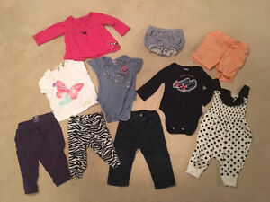 9-12 month old girls lot - 10 items