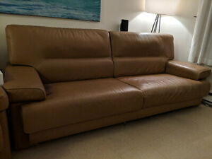 >> Leather couch & matching chair $250 O.B.O.