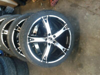 5x100 rtx scorpins new condition new tires