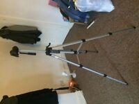 Tripod. Sturdy, tall tripod with case.
