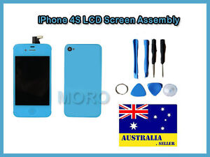 Blue-iPhone-4S-A1387-Replacement-LCD-Digitizer-Touch-Screen-Glass-Back-Cover