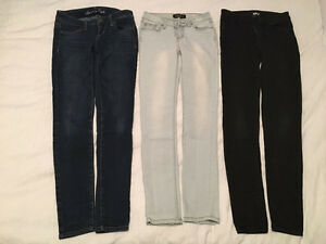 """Pantalons jeans fille taille """"0"""", 14 ans"""
