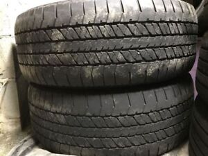Set of 2  275/60/20   Bridgestone   75% tread