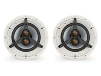 PAIR of Monitor Audio CT180-T2 In Ceiling Speakers 2X Integrated