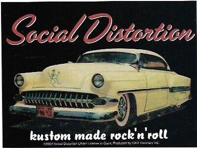Social Distortion Kustom Made Vinyl Sticker Decal Rockabilly Punk Hot Rod