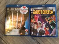 X men wolverine and robot chicken bluray DVDs