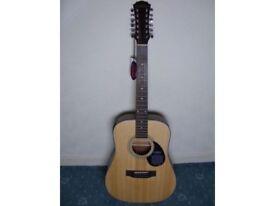 Freshman FA200E12 electro-acoustic 12-string guitar BRAND NEW & MINT CONDITION