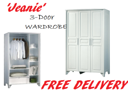 Brand New 3-Door WARDROBE with WARRANTY + FREE DELIVERY