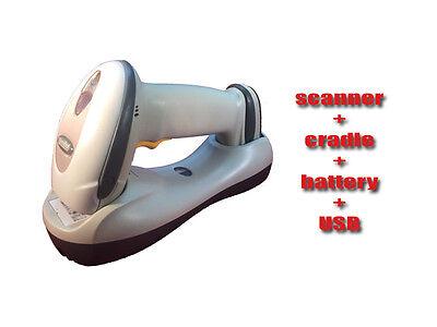 Motorola Symbol Ls4278 Wireless Bluetooth Barcode Scanner Cradle Usb Cable
