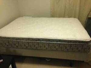 Double Pillowtop Mattress, Box Spring & Frame FOR SALE