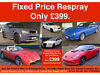 Fixed Price Colour Change Respray Only £399. Any Car, Any Size from a Mini to a Range Rover. East End, Glasgow