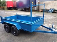 8x4 painted double axle trailer with ladder rack(not cattle loader lawnmowers sheep loader silage)