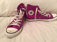 Women's Converse Pink Leather All Star - Hi Tops,