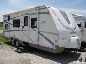28ft  Fleetwood Pegasus with Bunk Beds