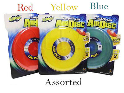 Disc Glow In The Dark LightUp Flying Air Disc Frisbee Ring Sport Light Up Air