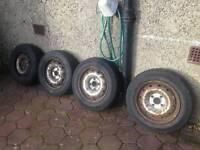 Peugeot Partner / Citroën berlingo steel wheels and tyres