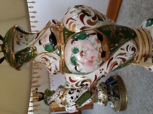 pair  Capdimonte lamps from Italy London Ontario image 2