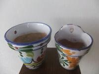 Spanish decorative flower pots