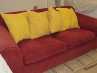3 seater sofa, maybe ex Sofa Workshop? Very good, clean condition. Washable covers