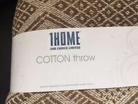 Brand new cotton throw