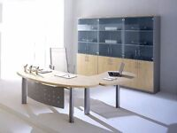Executive Sinetica Sigma Desk available with/ or without return arm