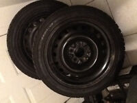 215/50/17 winter tires & rims ( Honda 5 bolt v6 pattern )