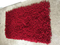HAND KNOTTED SHAG RUG – 3' X 5' – RED