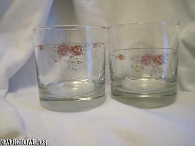 Old Fashion Beverage Glass - PFALTZGRAFF TROUSSEAU 8 OZ OLD FASHIONED GLASS (s)~DRINKING~BEVERAGE~ROCKS~EUC