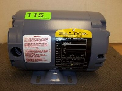 New - Baldor Electric Motor 34g40x17 - 13hp 1 Ph 115v 1725rpm