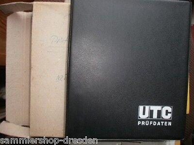 UTC 1971 Prüfdaten 2.Aufl Ringbuch technischen Prüfdaten auf plastifizierte 1971