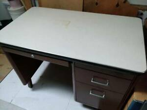 Metal Desk with Filing Drawer
