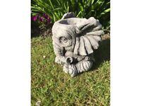 Stone garden elephant planter. Nee