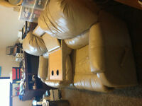 Gorgeous Leather Palliser Couch with storage