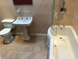 Bathroom suite bath sink toilet shower unit up for bargain