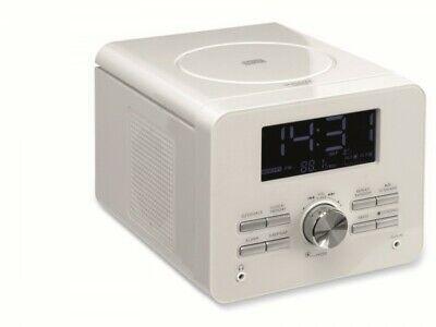UHRENRADIO MIT CD PLAYER WEISS KÜCHENRADIO WECKRADIO RADIOWECKER (Uhr Mit Cd-player)