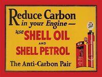 Shell Aceite & Gasolina,reducir Carbono,vintage Garaje Motor, Metal Pequeña / - shell - ebay.es