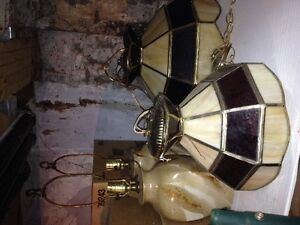 Tiffany lamps and a set of marble coloured glass lamps Kitchener / Waterloo Kitchener Area image 2