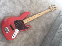 Fender Jazz bass Roadworn, Precision maple neck + J-Retro preamp + hard case