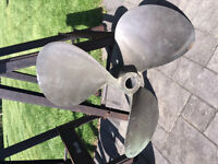"TWO 26"" BRASS PROPELLERS FOR LARGE DIESEL"