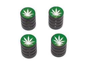 Marijuana-Leaf-Weed-Pot-Tire-Valve-Stem-Caps-Black
