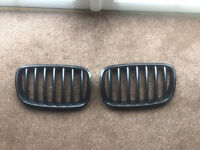 BMW E70 X5 E71 X6 FRONT KIDNEY GRILLES GRILL BLACK