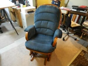 """Blue Rocking Chair (41""""h x 30""""w) in excellent condition"""