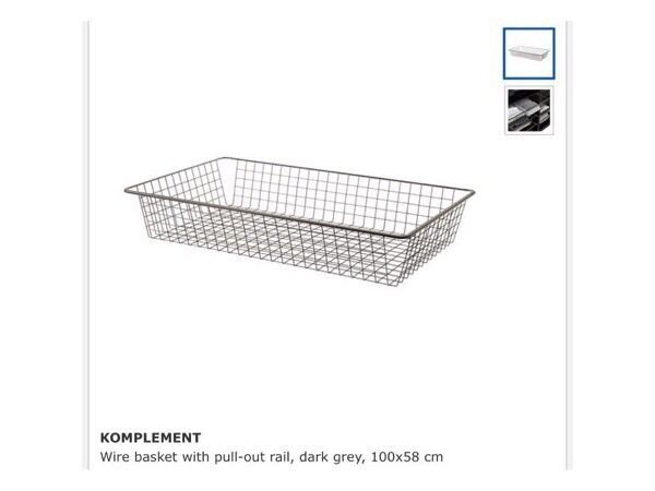 Pax ikea wardrobe under bed wire drawers trays in for Ikea basket drawers