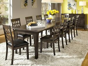 SOLID WOOD VERSA EXTENSION TABLE & 4 SIDE CHAIRS